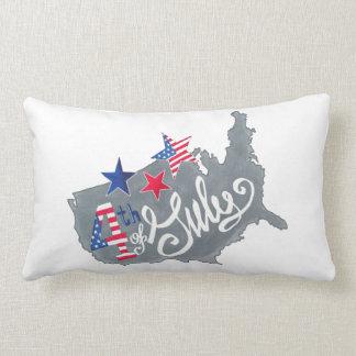Almofada Lombar Mapa patriótico 4o dos EUA do Dia da Independência
