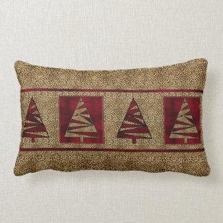 Almofada Lombar Matiz vermelhos escuro com impressão da chita
