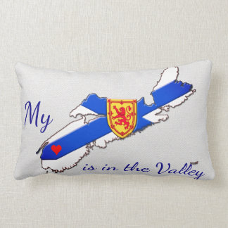 Almofada Lombar Meu coração é o travesseiro de Nova Escócia do