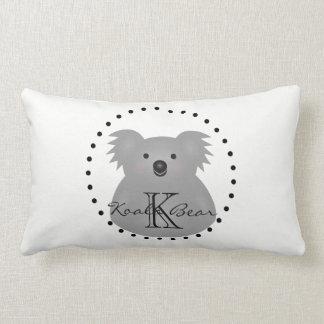 Almofada Lombar Monograma peluches bonito do urso de Koala do bebê