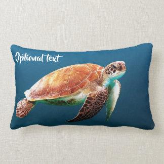 Almofada Lombar Natação bonita da tartaruga de mar