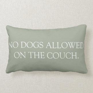 Almofada Lombar Nenhum cão permitiu no descanso do lumbar do sofá