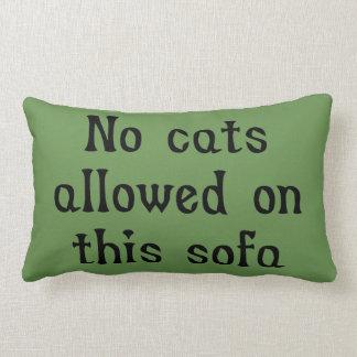 Almofada Lombar Nenhuns gatos permitidos neste sofá