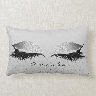 Almofada Lombar Nome da composição do preto do brilho da princesa