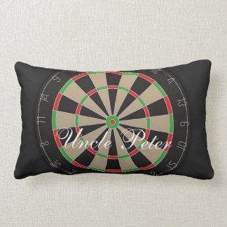 Almofada Lombar Nome do monograma do Dartboard do Bullseye