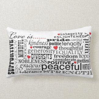 Almofada Lombar O amor é amor, matéria das palavras