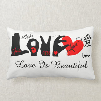 Almofada Lombar O amor é bonito