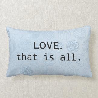 Almofada Lombar O amor é tudo que você precisa círculos azuis