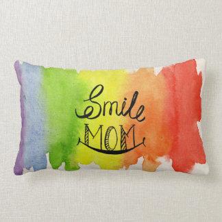 Almofada Lombar O arco-íris obtem cores do travesseiro do sorriso