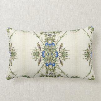 Almofada Lombar O azul asiático floresce o travesseiro lombar de