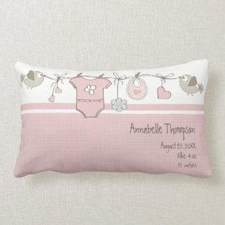Almofada Lombar O bebê cor-de-rosa bonito veste | personalizado