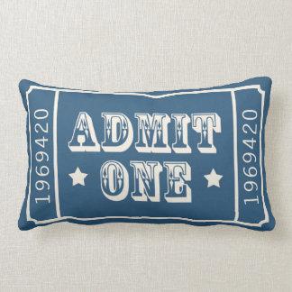 Almofada Lombar O bilhete de teatro lunático do circo admite um