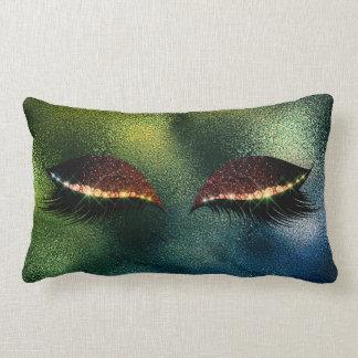 Almofada Lombar O brilho tropical do sono do vidro verde chicoteia