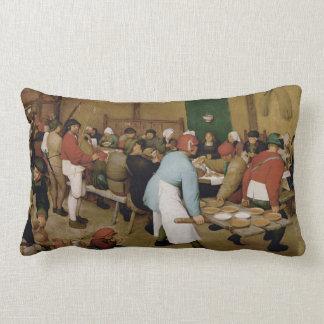 Almofada Lombar O casamento do camponês por Pieter Bruegel a