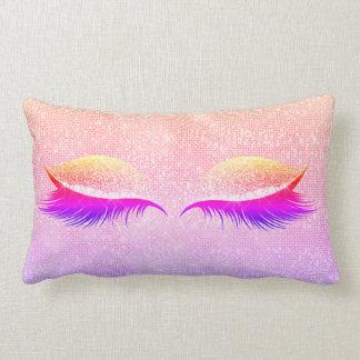 Almofada Lombar O disco de Maiami cora rosa Glam preto da