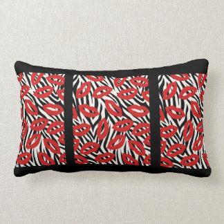 Almofada Lombar O dobro tomou partido travesseiro vermelho, preto