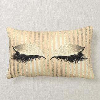 Almofada Lombar O olho preto da composição do brilho chicoteia