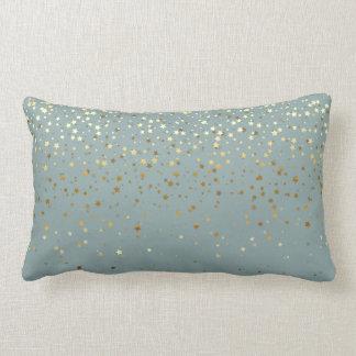 Almofada Lombar O pequeno ouro interno Stars o Travesseiro-Seafoam