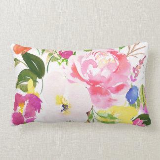 Almofada Lombar O primavera colorido da aguarela floresce floral