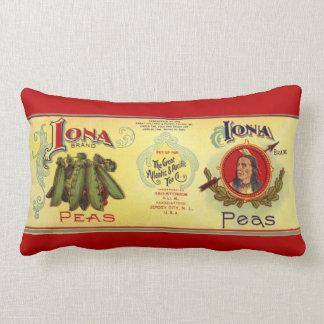 Almofada Lombar O vegetal do vintage pode etiquetar a arte,