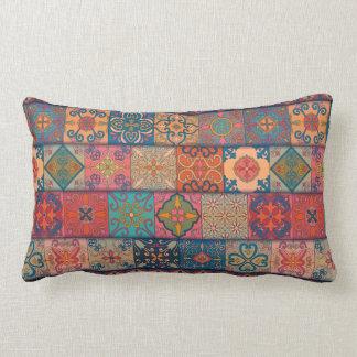 Almofada Lombar Ornamento de talavera do mosaico do vintage