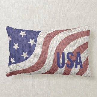 Almofada Lombar Os EUA embandeiram rústico resistido