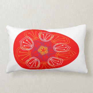Almofada Lombar Ovos da páscoa alinhados com a mandala diferente