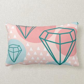 Almofada Lombar Padrões do diamante da colagem