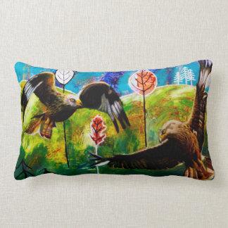 Almofada Lombar Papagaios vermelhos do travesseiro lombar de Wales