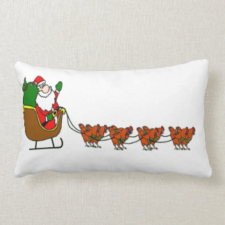 Almofada Lombar Papai Noel e travesseiro decorativo das galinhas