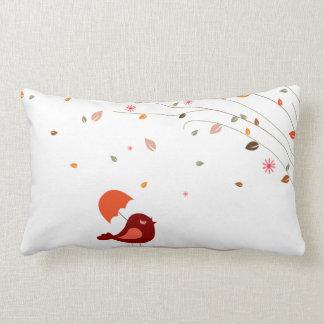 Almofada Lombar Pássaro bonito sob o cobrir ventoso do travesseiro