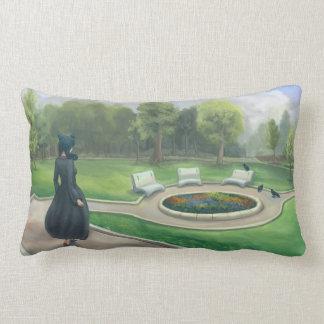 Almofada Lombar Passeio na arte da fantasia do jardim