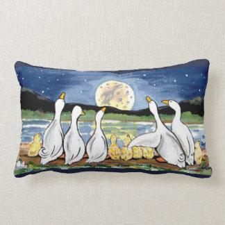 Almofada Lombar Pato & de família e de lua do patinho travesseiro