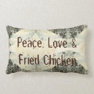 Almofada Lombar Paz, amor & frango frito
