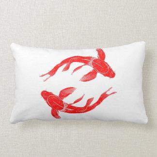 Almofada Lombar Peixes vermelhos de Koi