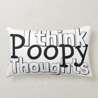 Almofada Lombar Pensamentos de pensamento de Poopy
