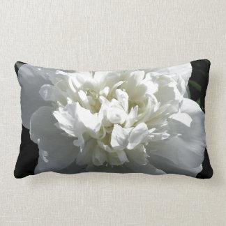 Almofada Lombar Peônia branca