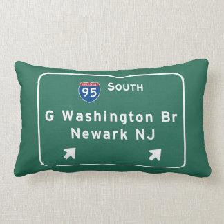 Almofada Lombar Ponte de George Washington I-95 de um estado a