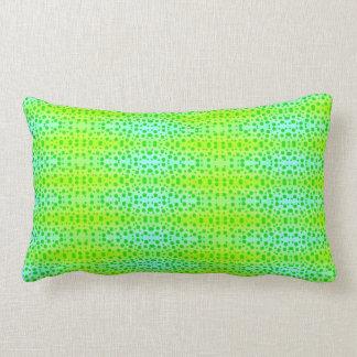 Almofada Lombar pontos engraçados verdes