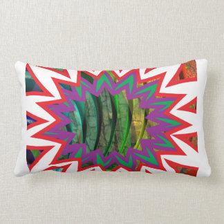 Almofada Lombar Presente colorido feliz do design gráfico da