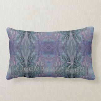 Almofada Lombar Procure seus azul roxo Funky do abstrato do zen e