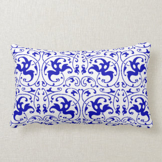 Almofada Lombar Redemoinho azul e branco do vintage