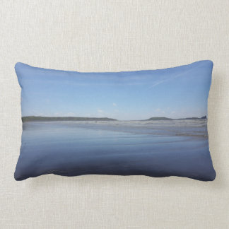 Almofada Lombar Reflexões azuis do coxim da baía de Rhossili