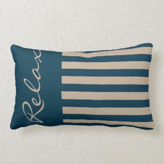 Almofada Lombar Relaxe com estes azuis marinhos e travesseiro