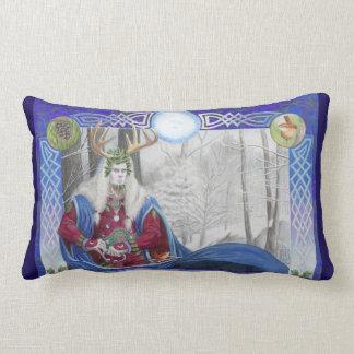 Almofada Lombar Retrato dobro do rei do carvalho e do rei do