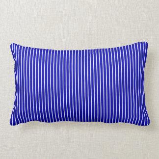 Almofada Lombar Riscas brancas azuis
