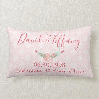 Almofada Lombar Rosa do aniversário de casamento de 30 anos floral