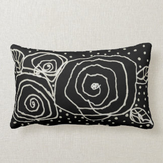 Almofada Lombar Rosas pretos