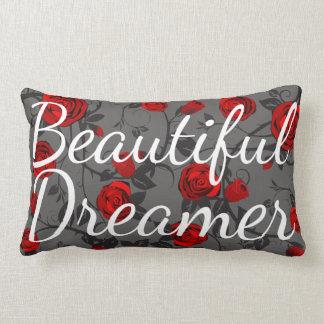 Almofada Lombar Rosas vermelhas & videiras bonitas do sonhador