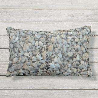 Almofada Lombar Seixos na fotografia da pedra da praia